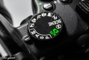 מצב צילום M במצלמה .