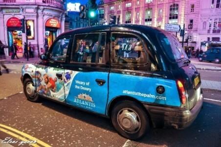 מונית לונדונית טיפוסית .