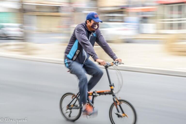צילום מספר 2 פאנינג על רוכב אופניים